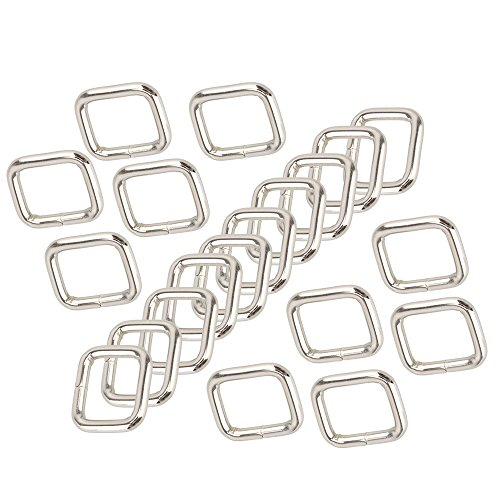 84121a5e4f92 BQLZR Silver Rectangle Metal Dee Ring D Cintre en sangle Boucle de ruban  20mm Strape Adjuster