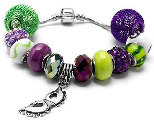 Cousin 34699822 13 Piece Mardi Gras Large Hole Bead Bracelet Kit by Cousin