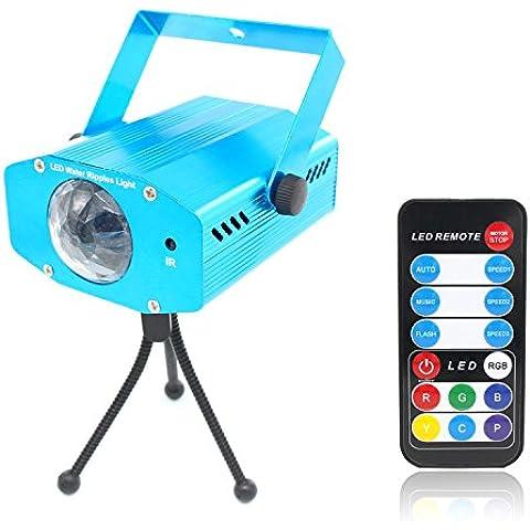 Xcellent Global Proyector LED de 7 Colores de Ondulaciones de Agua Olas del Mar en Fiestas de Halloween, Karaoke , Navidad