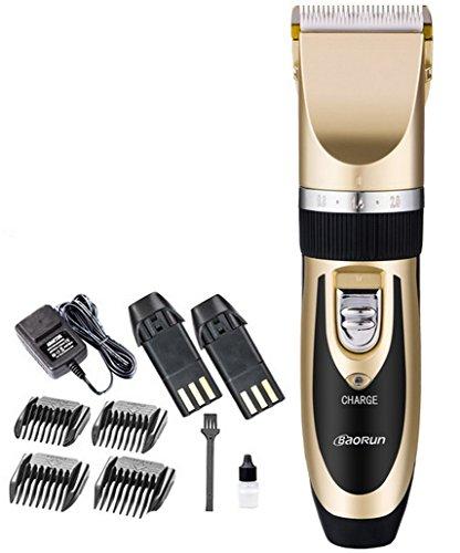 Restbuy Elektrischer Haarschneider Bartschneider Set Trimmer Haarschneidemaschine für Herren und Kinder - mit 4 Aufsätzen und 2 Auswechselbare Batterien
