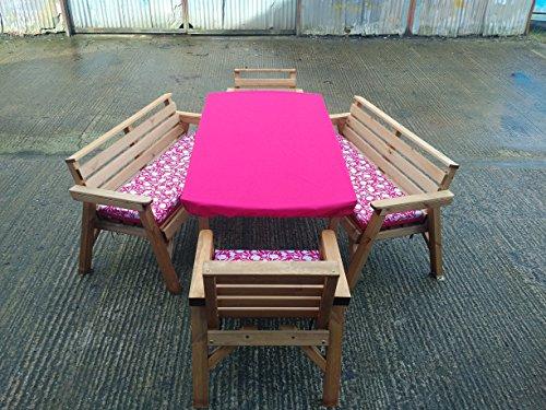 Tavolo Da Giardino In Legno Con Panchine.6 Tavolo 2 Panche E 2 Sedie Set Di Mobili Da Giardino In Legno
