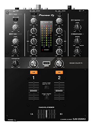 Pioneer DJM-250MK2 2channels 20 - 20000Hz Black audio mixer - Audio Mixers (2 channels, 20 - 20000 Hz, 94 dB, 48 kHz, 0.005%, 230 mm)