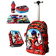 Ladybug Miraculous Cat Noir set Sac à dos Trolley pour School