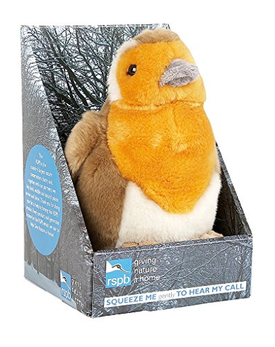 Ravensden RSPB Singing Robin Soft Toy (Packing May Vary)