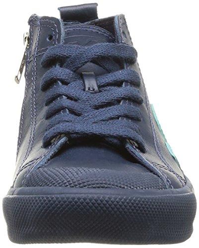 Veja Botinha Lace & Zip, Boots mixte enfant Bleu (Nautico Chlorophyll)
