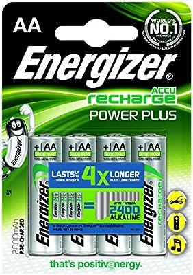 Energizer 635178 - Blister, 4 pilas recargables (2000 MAh)