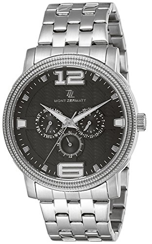 Mont Zermatt Analog Black Dial Men's Watch - MZ11503 SM BLACK image