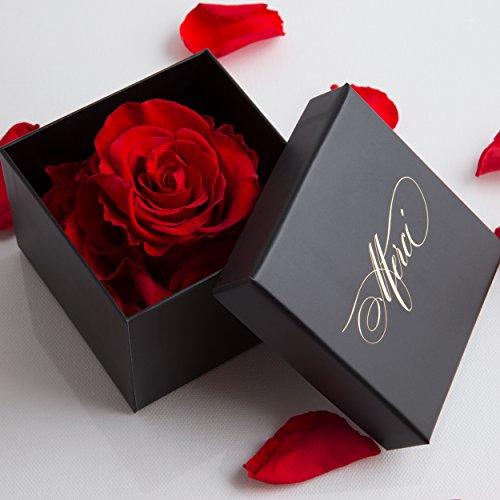1 konservierte Rose 3 Jahre haltbar Geschenkbox Danksagung Rosengesteck von ROSEMARIE SCHULZ® (Merci !)