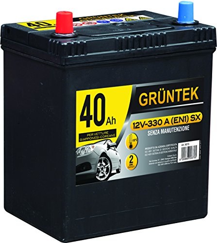 GRUNTEK 40ah Batteria Auto 12V 330A/EN