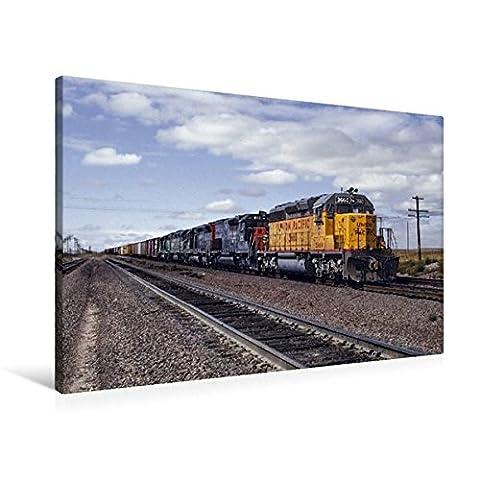Premium Textil-Leinwand 90 cm x 60 cm quer, Union Pacific, Cheyenne, Wyoming, 1981 | Wandbild, Bild auf Keilrahmen, Fertigbild auf echter Leinwand, Leinwanddruck (CALVENDO Mobilitaet)