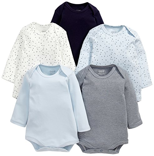 Mamas & Papas Baby-Jungen Body 5 Pack Bodysuits, 5 Blau, 3-6 Monate