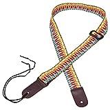 Mugig Ukulelegurt einstellbare Länge 77-136cm Tragegurt aus Baumwolle für Ukulele und kleine Gitarre