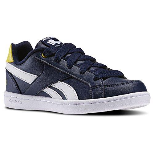Reebok Royal Prime, Chaussures de Sport Garçon Bleu / jaune / blanc (bleu marine / jaune étincelle / blanc)