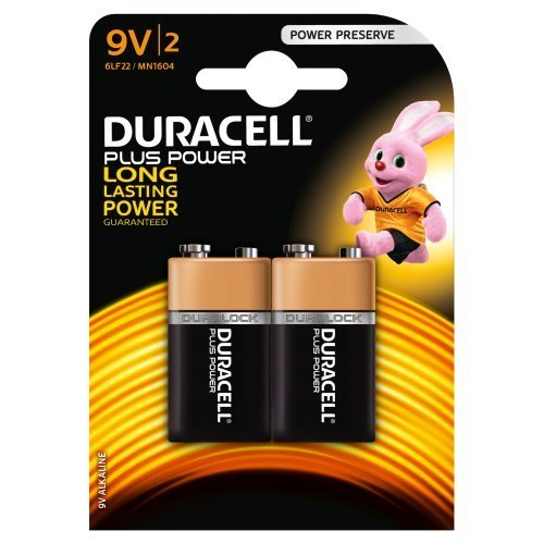 Batterien Duracell 9v (Duracell Plus Power Alkaline Batterien 9V (MN 1604) 2er Pack)