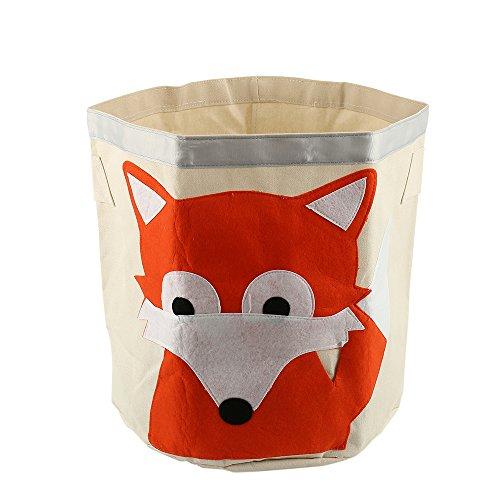 fbewahrungskorb Multifunktionale Faltbar für Spielzeug oder Wäschekorb Kinderzimmer (Fuchs) (Außen Haus Dekor)