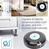 Segolike Automatic Cordless Vacuum Cleaning Robot Robotic Vacuum Vac Cleaner for Hair Dust Dirt Removal - black, One Size