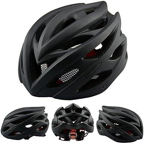 Un casco bici Ciclismo MTB road bici bicicletta casco con lampada tappi Accessori biciclette , matte black