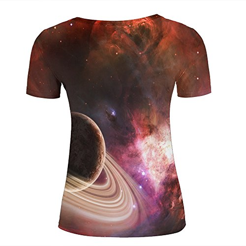 qianyishop Mens Womens 3d Print T ShirtsFiery universe Graphic Fashion Couple Tees Top Short Sleeve D