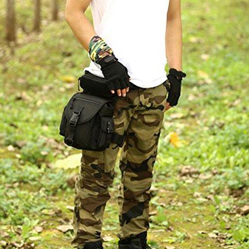 Baoblaze Bolso Táctico Militar Fanny Pack Cintura Bolsa para al Aire Libre, Acampar, Resursionismo - Negro