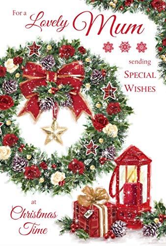 Grass Roots Weihnachtskarte für eine schöne Mutter mit besonderen Wünschen, englische Aufschrift