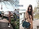ECOSUSI Women Saddle Bag Cross Body Bag with Flap Top & Tassel