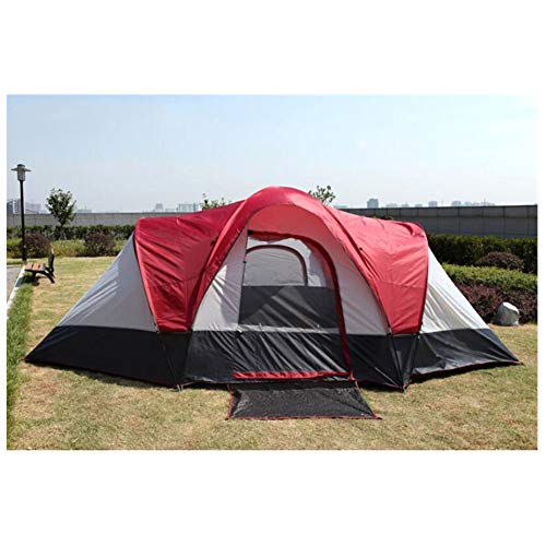 Anti-uv,spacioustenda, 5-8 persone tenda per le vacanze in famiglia tende da campeggio di grandi dimensioni due camere e un soggiorno tenda da viaggio impermeabile a doppio strato,1,550*300*198cm