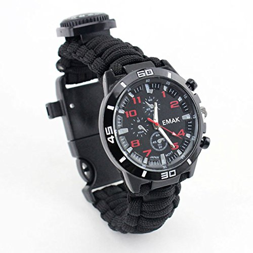16-in-1 Multi-function Compass Survival watch rope