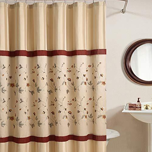 DS Bad Veronica Wasserdicht Stoff Vorhang für die Dusche, Mikrofaser, tan,green,red, shower curtain:78