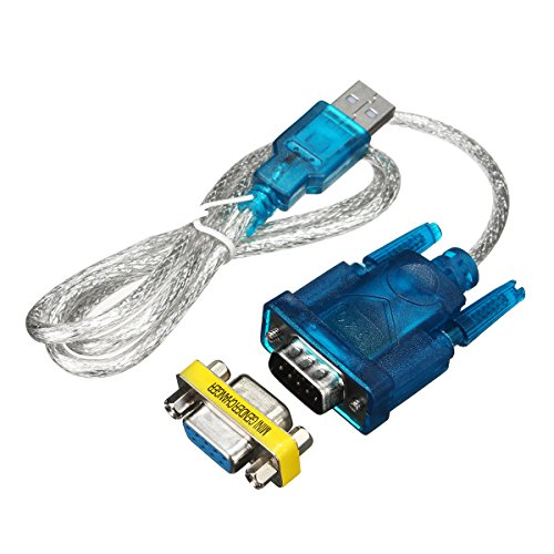 ILS - 80CM USB To RS-232 DB9 9-Pin Serial Cable Adapter