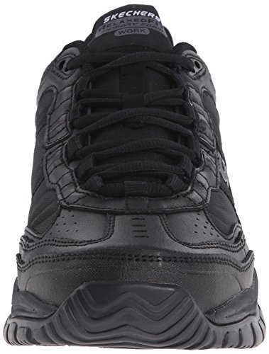 Skechers For Work Mens Soft Stride Mavin Slip Resistant Athletic Oxford Black