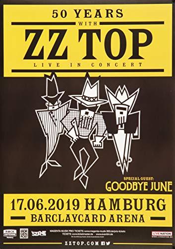 Premium Poster/Plakat   DIN A1   Live Konzert Veranstaltung » ZZ Top - 50 Years with, Hamburg 2019 «