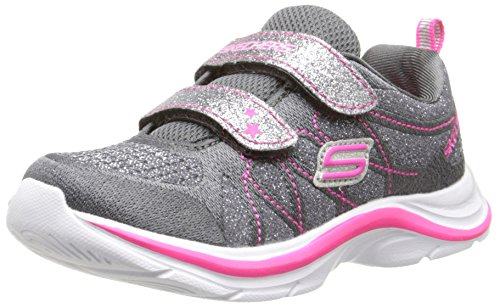 Skechers Swift Kicks-Lil Glammer 81497N/CCNP Mädchen Klettverschluss/Slipper Halbschuh sportlicher Boden, Größe 27.0