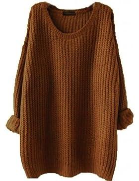 [Patrocinado]Minetom Mujer Otoño Invierno Moda Jerséis De Punto Suéter Tops Casual Pullover Manga Larga Prendas De Punto
