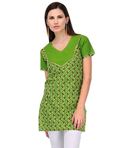 Yepme Charlotte Printed Kurti - Green & Red - YPMKURT0437_XS  available at amazon for Rs.179