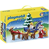 Playmobil 6787 1.2.3 Father Christmas with Reindeer Sledge - Multi-Coloured