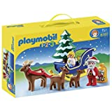 Playmobil 6787 1.2.3 Father Christmas With Reindeer Sledge   Multi Coloured