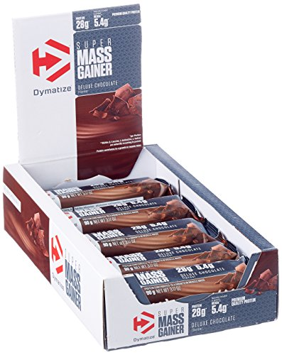 Dymatize Super Mass Gainer Bar - Protein-Riegel mit Casein und Whey Protein - Weight Gainer Riegel / 10 x 90 g Deluxe Chocolate -