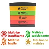 Très bon mâitrise, Mâitrise satisfaisante/fragile/insuffisante Multi-Tampons Auto Encreurs-4 �tages