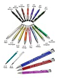 Metall - Kugelschreiber ASCOT mit Lasergravur/Gravur - Farben sortenrein oder Gemischt (alle mit gleicher Gravur), Menge:25 Stück;Farbe:Gemischt