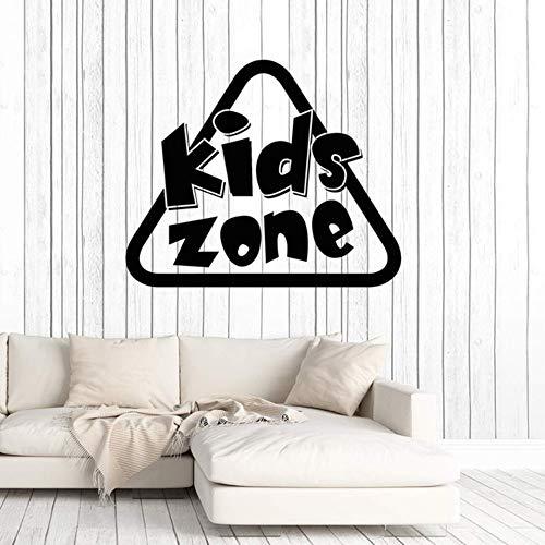 Vinyl Wandtattoo Kinder Zone Zeichen Kinder Spielen Zimmer Kunst Aufkleber Abnehmbare Wandkunst Für Baby Schlafzimmer Dekor 42X51 Cm -