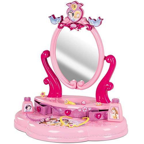 Friesiersalon Disney Princess, 34×91 cm, mit großem Spiegel und Zubehör: Kinder Frisier Tisch Set Schminktisch Kosmetik Spielzeug - 3