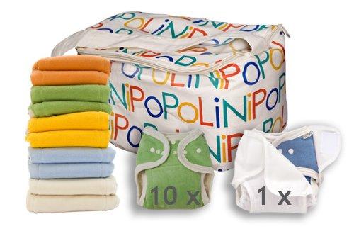 Popolini One Size Rainbow Soft Set Bunt sortiert kba Komplettset Stoffwindeln 3-15kg NEU & Original (Stoffwindel One Size)