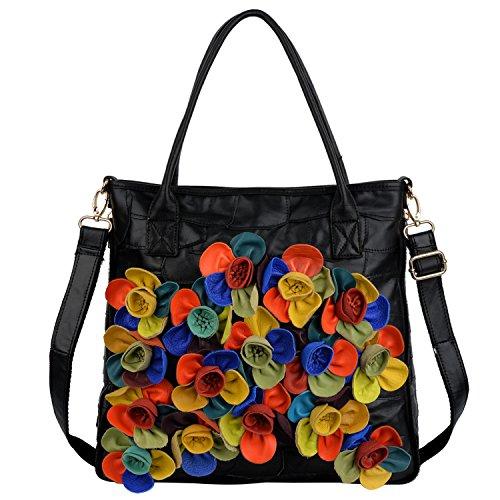 Yaluxe Borsa Donna Multicolore primavera collection Borsa a tracolla in Vera Pelle