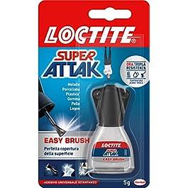 Loctite Super Attak Brush, Adesivo Istantaneo con Pennello Facile e Preciso, Colla Liquida Trasparente per Gomma…