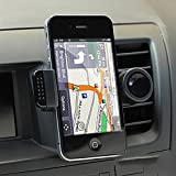 TBS2063 Support téléphone - Universel Air Vent support telephone , kit main libre - pour voiture grille d'aération, ventilation mobile Apple iPhone4/4S, iPhone5, iPhone5C, iPhone5S, Samsung Galaxy S3...