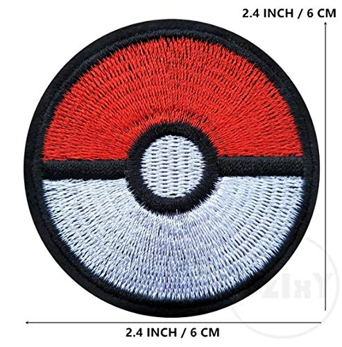 Pokeball Pokemon Patch Embroidered Iron on Badge Applique Costume Fancy Dress Master Ball Pokémon Cosplay Pokeball by Premier Patches