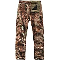 Pantalones de camuflaje para hombre, impermeables y con forro polar, color Trees Camouflage, tamaño X-Large