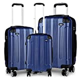 Kono Luggage Sets of 3 Piece Lightweight 4 Wheels Hard Sheel ABS Travel