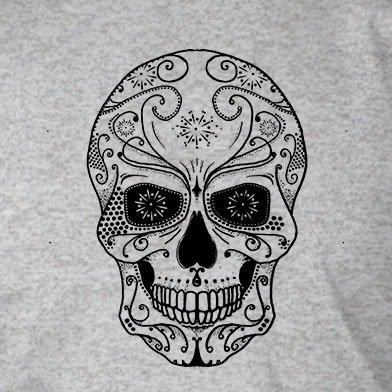 Skull Design - Stofftasche / Beutel Rot