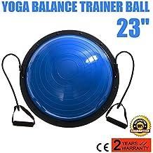 Autovictoria Balance Trainer Ball Yoga Balance Trainer Blue Entrenamiento de Ejercicios de Fuerza Con Bandas De